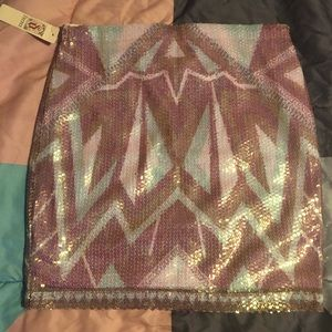 Multicolored new sequined skirt